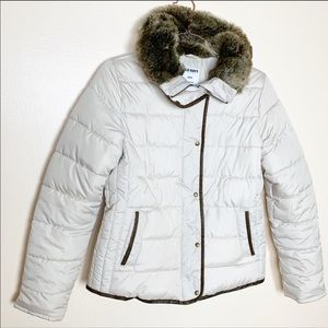 Old Navy | Faux Fur Quilted Puffer Coat